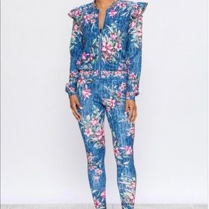 Other - Floral track suit 💙
